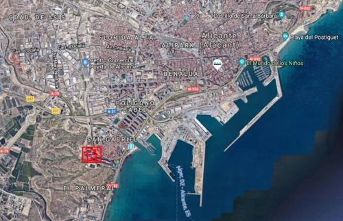 A bird's-eye view of Alicante Habitación privada con baño