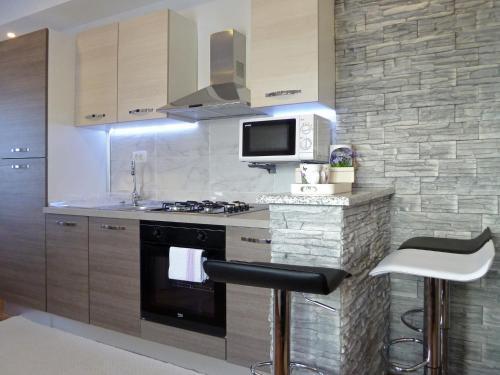 Kuchyň nebo kuchyňský kout v ubytování Apartment Petra i Nikola