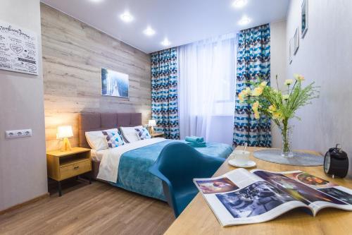 Кровать или кровати в номере Graf Orlov. Comfort Apartments