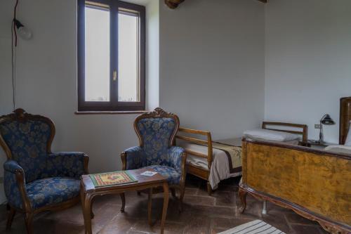 Area soggiorno di Agriturismo La Morosina