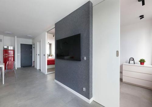 TV a/nebo společenská místnost v ubytování Aroma Apartments Rondo ONZ