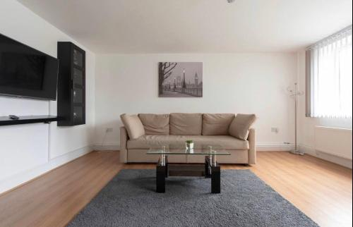 A seating area at Modern apartment