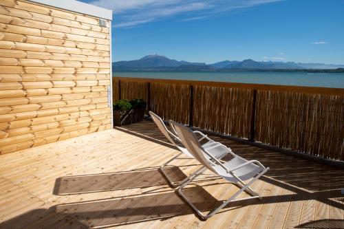 Balkón nebo terasa v ubytování Camping Bergamini