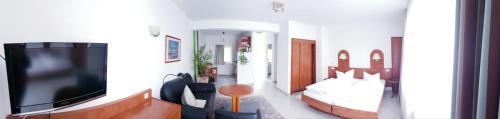 TV/Unterhaltungsangebot in der Unterkunft Urlaubspension 'Hohes Rott' und Apartmenthaus