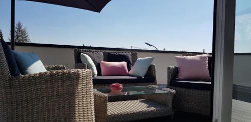 Ein Balkon oder eine Terrasse in der Unterkunft Ferienwohnung Viva la Vida