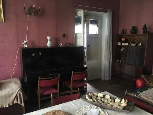 A television and/or entertainment center at Guest House Dusheti
