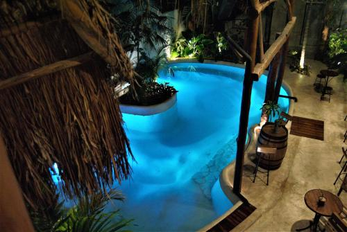A view of the pool at Hotel Boutique TerraNova or nearby