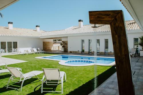 The swimming pool at or near Casa Boquera