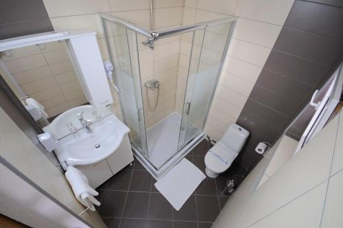 Koupelna v ubytování Guest House Korita