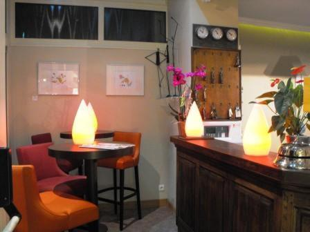The lounge or bar area at Les Capucins