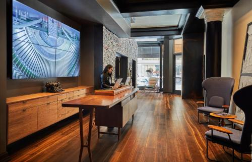 A television and/or entertainment center at Hotel Emblem San Francisco