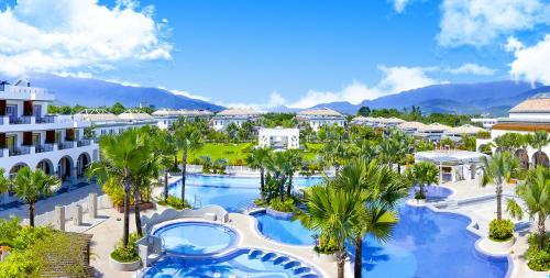 日暉國際渡假村游泳池或附近泳池的景觀