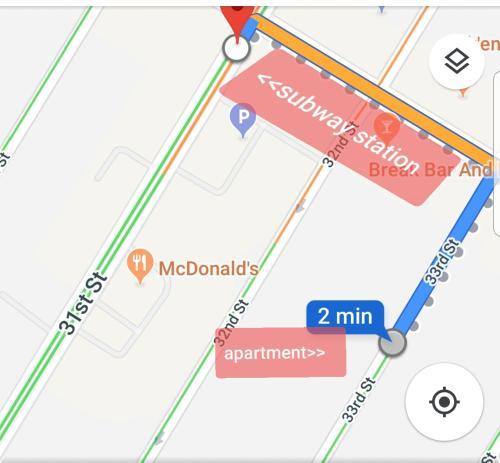 The floor plan of Suite Dante/15 min to Midtown