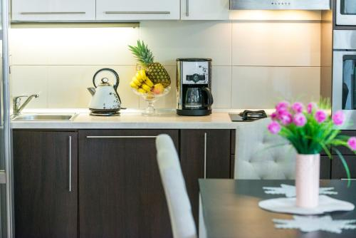 A kitchen or kitchenette at Vacation House Cavtat
