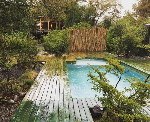 A view of the pool at Onai Hostel or nearby