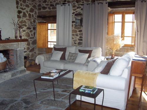 A seating area at Pazo A Freiria