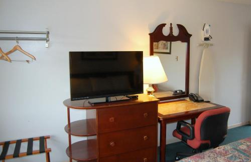 A television and/or entertainment center at Canton Inn