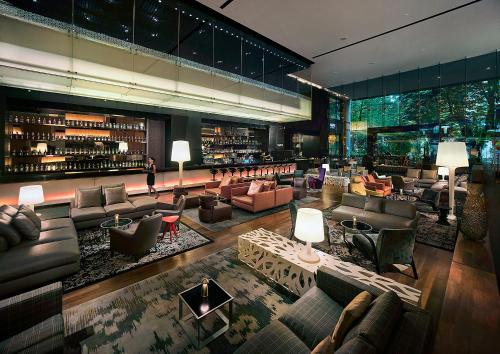The lounge or bar area at G Hotel Gurney