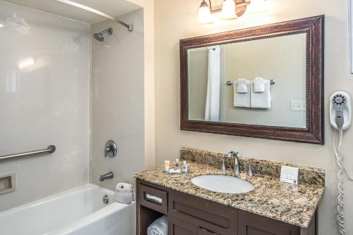 A bathroom at The Inn at 1252 Monterey