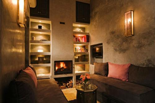 Ein Sitzbereich in der Unterkunft Riad Cinnamon by Marrakech Riad