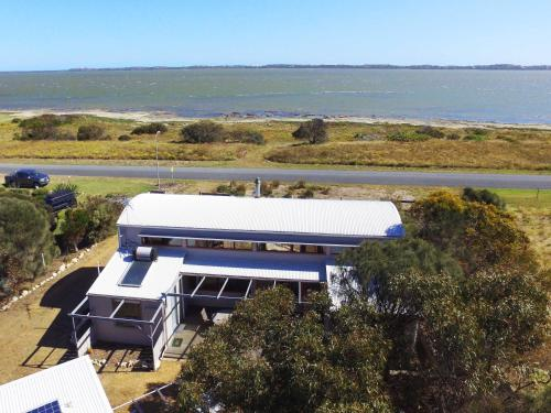 A bird's-eye view of Coorong Aurora - breathtaking waterfront escape