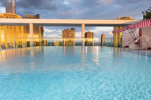 The swimming pool at or near Novotel Miami Brickell