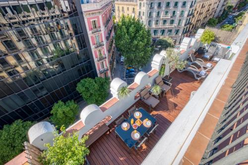 A bird's-eye view of Paseo de Gracia Bas Apartments Barcelona