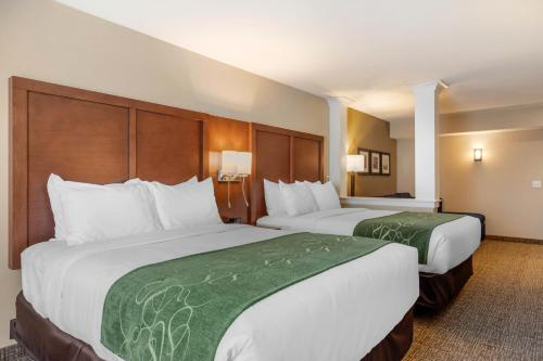A bed or beds in a room at Comfort Inn & Suites Schenectady - Scotia