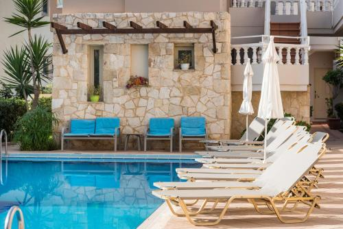 The swimming pool at or near Elotis Suites