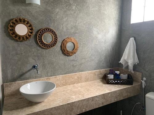 A bathroom at Casa da Vila Santo Antônio