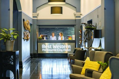 The lobby or reception area at Best Western Melbourne City
