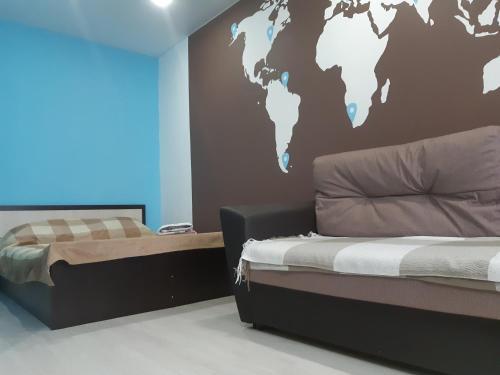 Кровать или кровати в номере Apartment Maxi