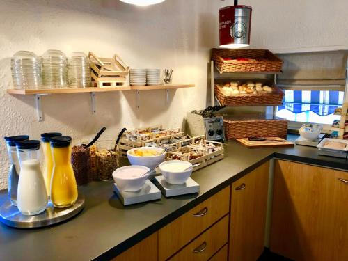 A kitchen or kitchenette at Hotel Eurotel