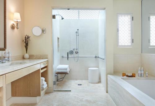 A bathroom at Auberge du Soleil, An Auberge Resort