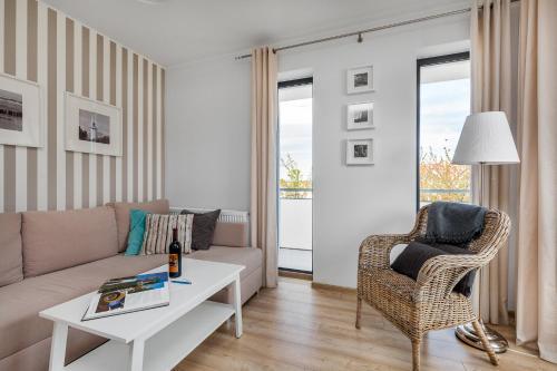 Ein Sitzbereich in der Unterkunft Apartament Konik Morski - Apartamenty Vento
