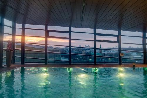 The swimming pool at or near Grand Hyatt Berlin