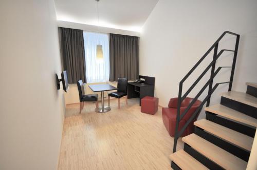 Ein Sitzbereich in der Unterkunft Apart2stay