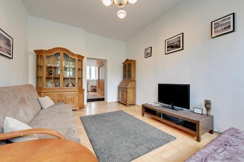 Posezení v ubytování Cosy-Old town Apartment