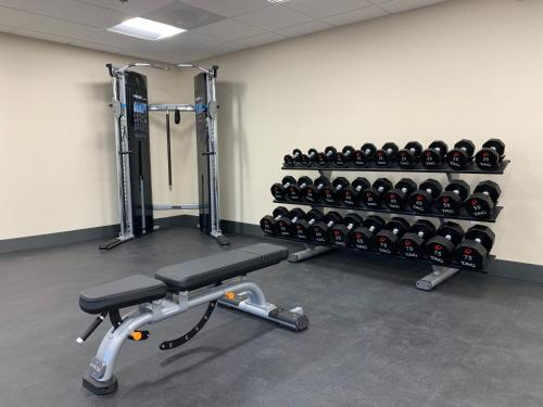 The fitness centre and/or fitness facilities at Hampton Inn & Suites Ocean City West