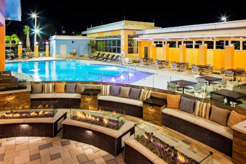 The swimming pool at or close to Hyatt House across from Universal Orlando Resort