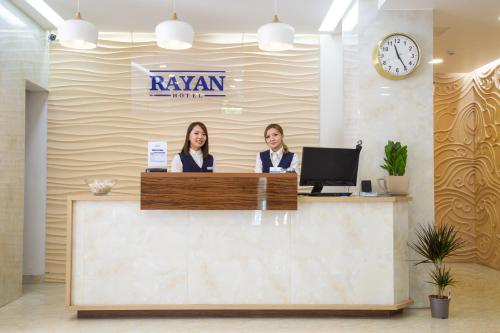 The lobby or reception area at Rayan Hotel