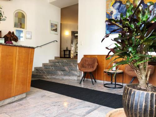 The lobby or reception area at Hotel Wegener