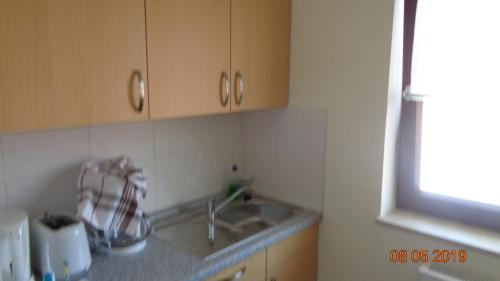 Küche/Küchenzeile in der Unterkunft Hotel Zur Wildtränke