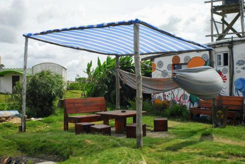 Ein Garten an der Unterkunft Viejo Lobo