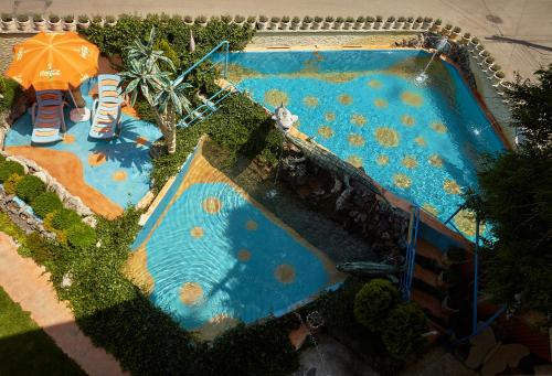 A view of the pool at Villa Sofia or nearby