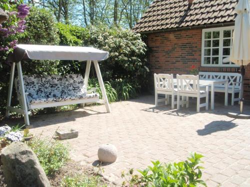 En terrasse eller udendørsområde på Grambo Bed & Breakfast