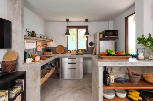 Küche/Küchenzeile in der Unterkunft Cape Shark Villas