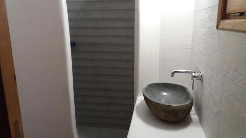 A bathroom at Ioanna Apartments