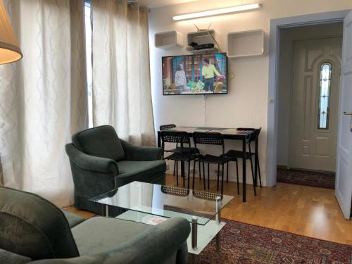 Posezení v ubytování Apartments Ålholmvej