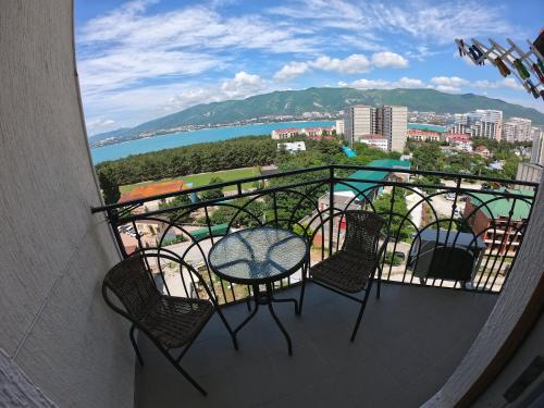 "A balcony or terrace at Апартаменты ""Черноморец"""